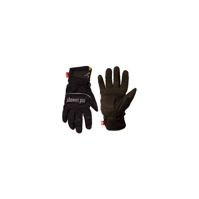 Showers Pass - Crosspoint Softshell Waterproof Gloves - Black In Size