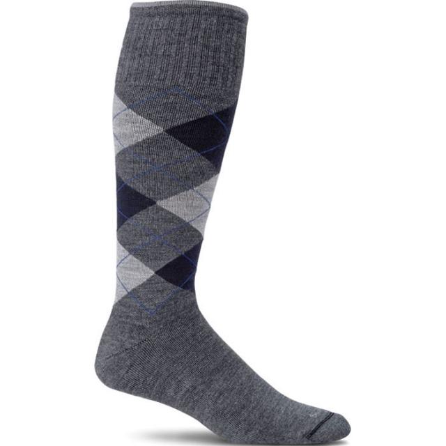 Sockwell - Argyle Circulator Sock Mens - Charcoal L/XL