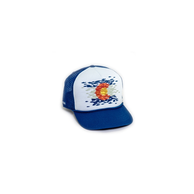 Rep Your Water - Colorado Flag Fish Mosaic Foam Front Mesh Back Hat