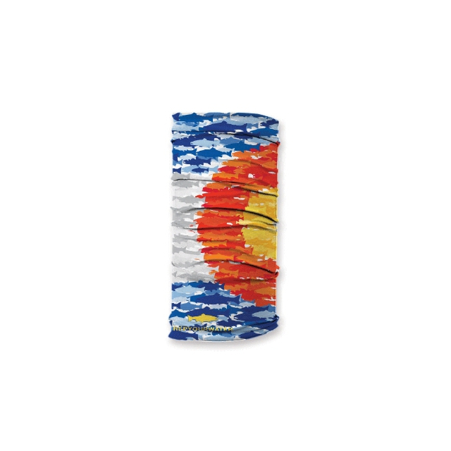 Rep Your Water - Colorado Flag Fish Mosaic Sun Shield