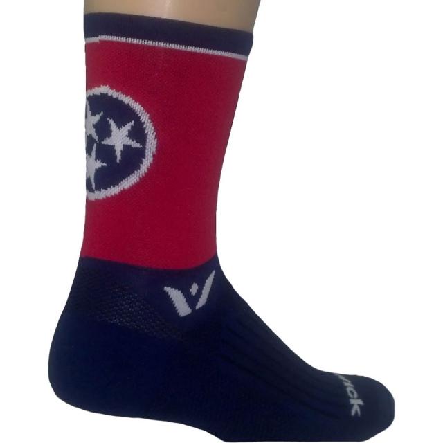 "Swiftwick - Vision Five"" Compression TN State Flag Sock Mens - Tn State Flag L"
