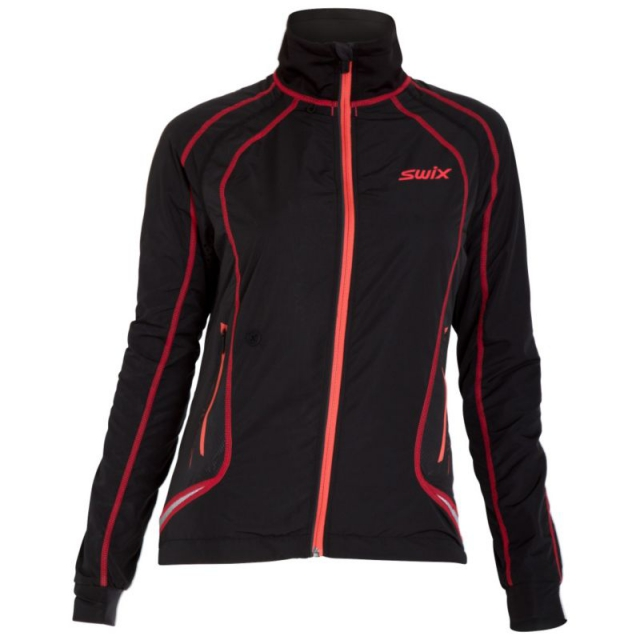 Swix - - Star XC Jacket Womens - Medium - Coral/Black