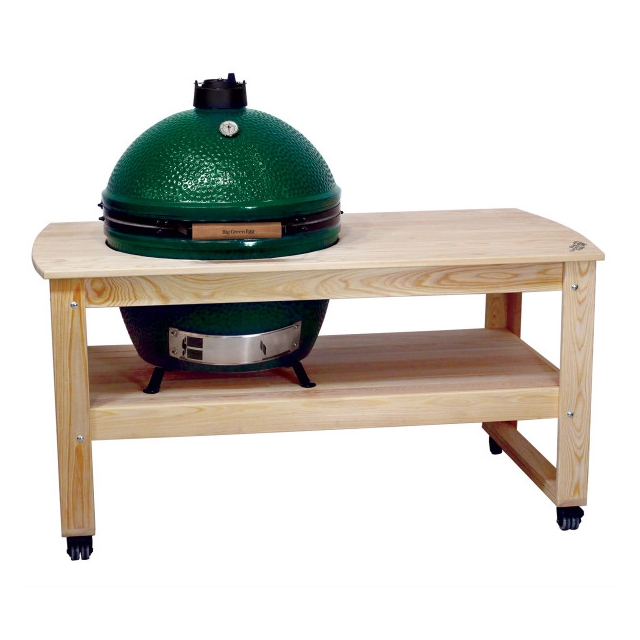 Big Green Egg - Cypress Table for XLarge EGG, w/table levelers