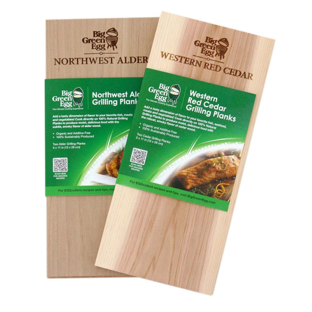 Big Green Egg - Western Red Cedar - Grilling Planks - 2 pack