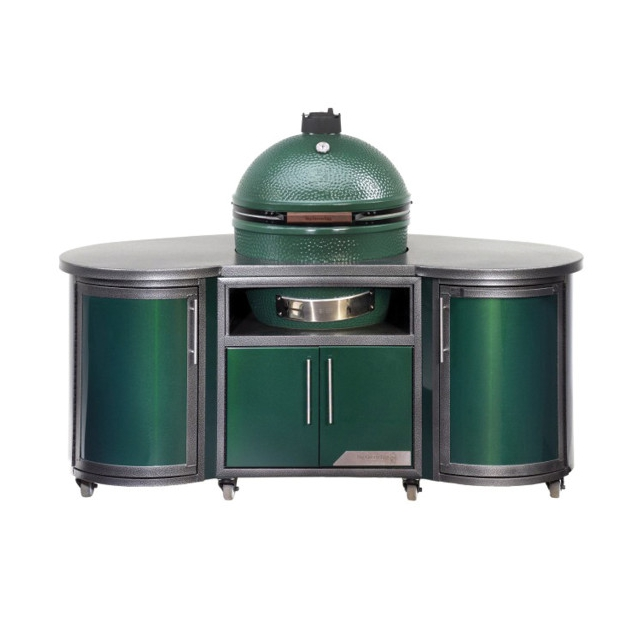 Big Green Egg - Custom Aluminum Cooking Island 76 in/1.9m for L EGG