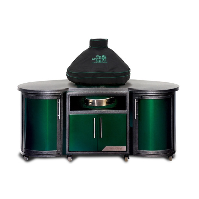 Big Green Egg - Ventilated Dome Cover w/piping and handle for XLarge EGG in built-in or Island