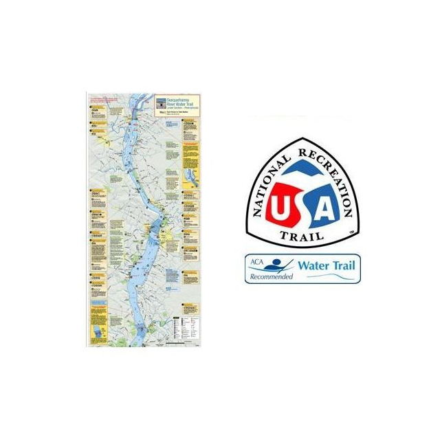 Liberty Mountain - Susquehanna River Trail Map and Guide - Lower