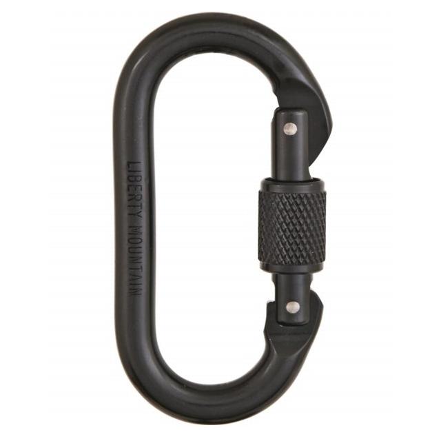 Liberty Mountain - oval screwgate black