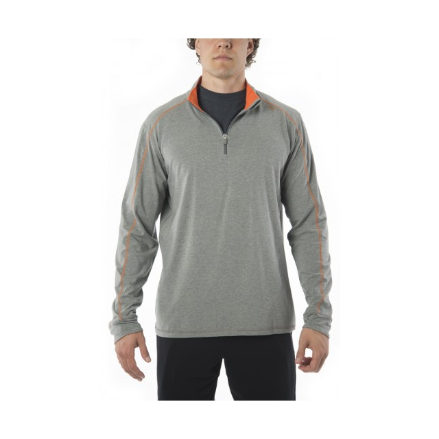 Tasc - Tasc - Core 1/4 Zip Men - medium - Heather Grey/Carrot