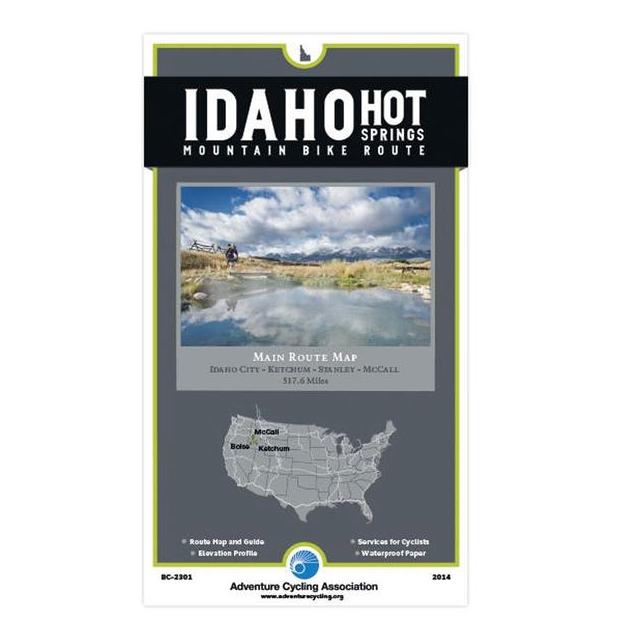Adventure Maps Inc. - Map: Idaho Hot Springs Mountain Bike Routes