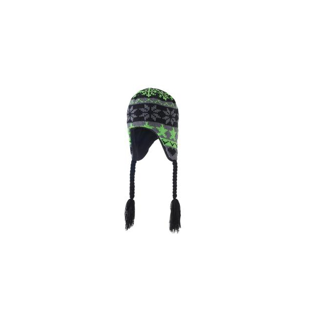 Screamer Hats - Screamer Let It Snow Hat Little Boys', Black/Green,