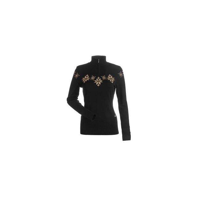 Nils Skiwear - Nils Kora 1/4-Zip Sweater Women's, Black/Metallic Gold, L