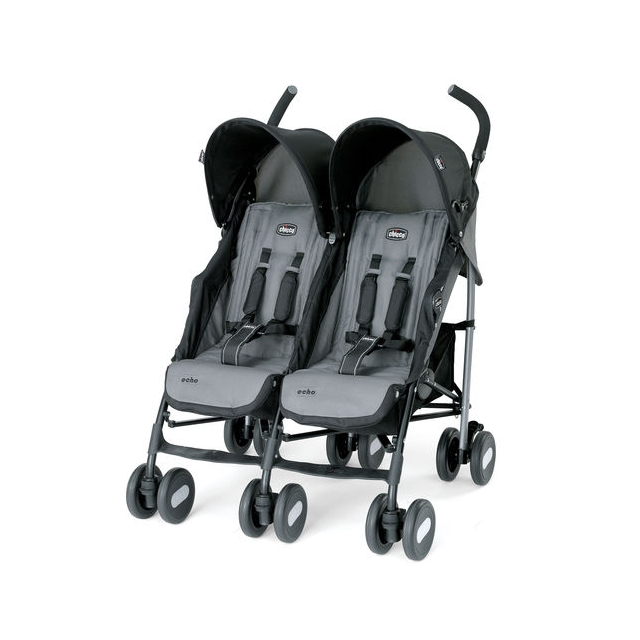 Chicco - Echo Twin Stroller Coal
