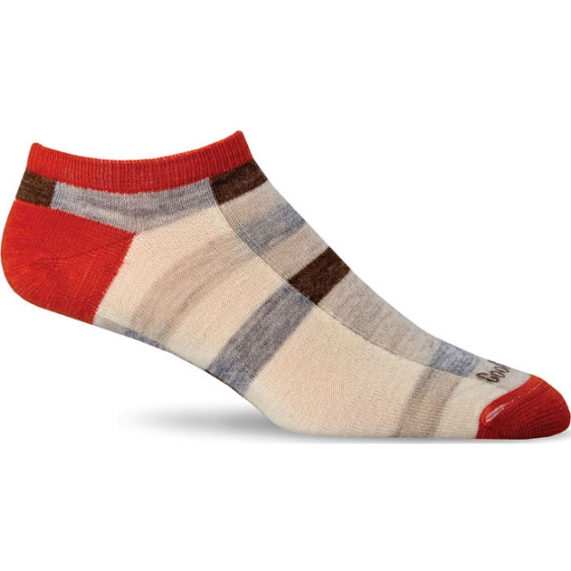 Goodhew - Color Block Sock Womens - Guava M/L