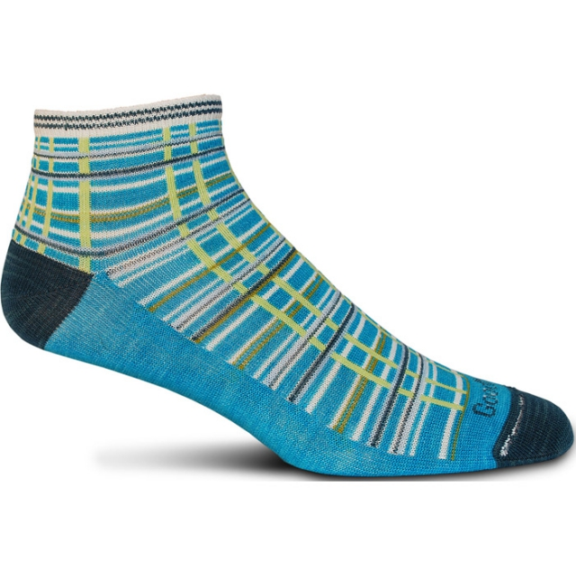 Goodhew - Madras Sock Womens - Turquoise S/M