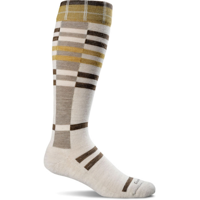 Goodhew - Mega Plaid Sock Womens - Barley M/L