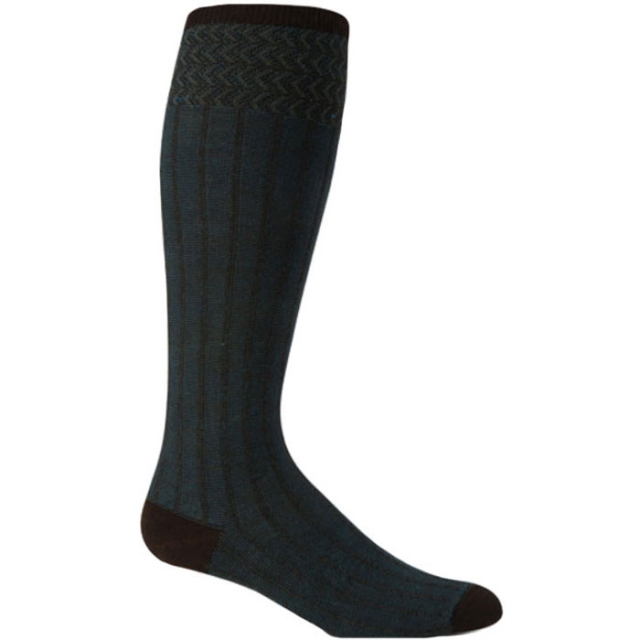 Goodhew - Rib Melange Sock Womens - Espresso M/L