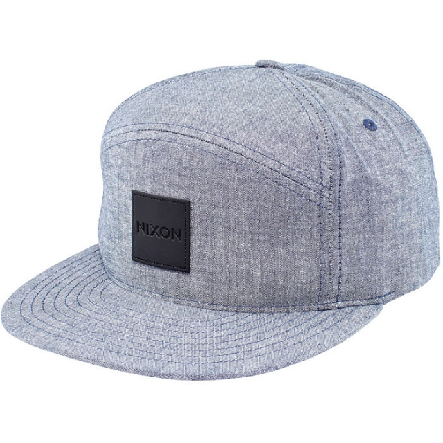 Nixon - Snapper Chambray Snap Back Hat Mens - Steel Blue