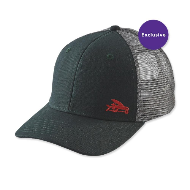 Patagonia small flying fish trucker hat for Patagonia fish hat