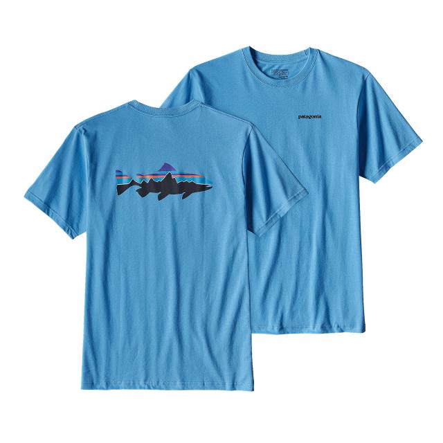 Patagonia - Men's Fitz Roy Trout Cotton T-Shirt
