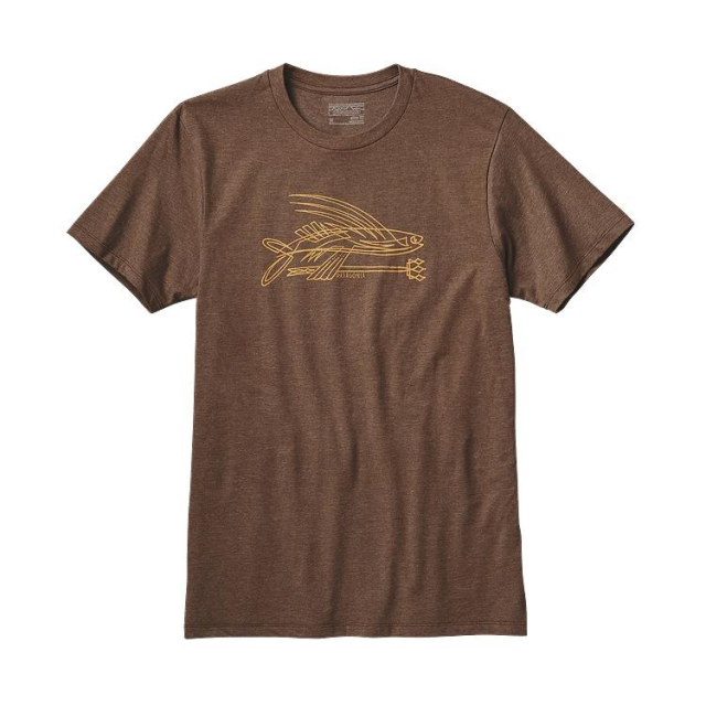 Patagonia - Men's Pinstripe Flying Fish Cotton/Poly T-Shirt