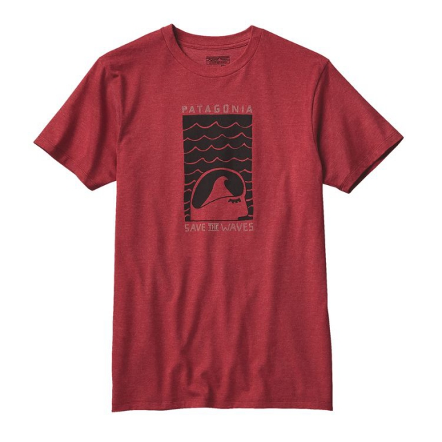 Patagonia - Men's Save The Waves Sleep Stoked Cotton/Poly T-Shirt