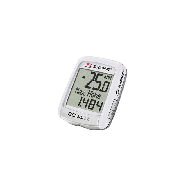 Sigma Sport - BC14.12 - 14 Function Cyclometer - White