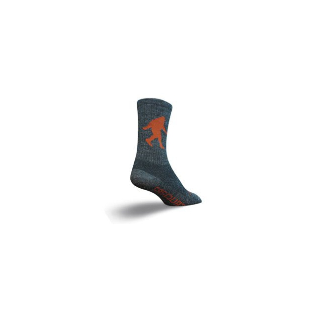 SockGuy - Sasquatch Wool Crew 6IN Cycling Sock - Grey In Size: L-XL