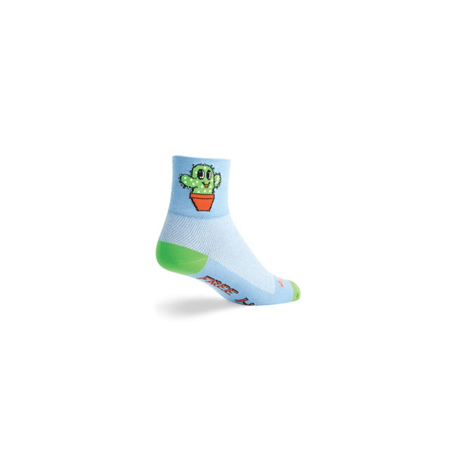SockGuy - Prickly Cycling Sock - Unisex - Blue In Size