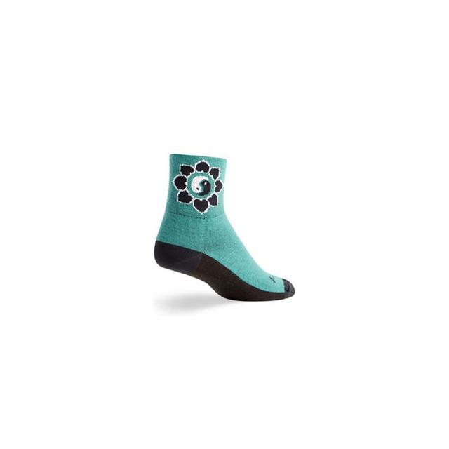 SockGuy - Yin-Yang Cycling Sock - Unisex - Green In Size
