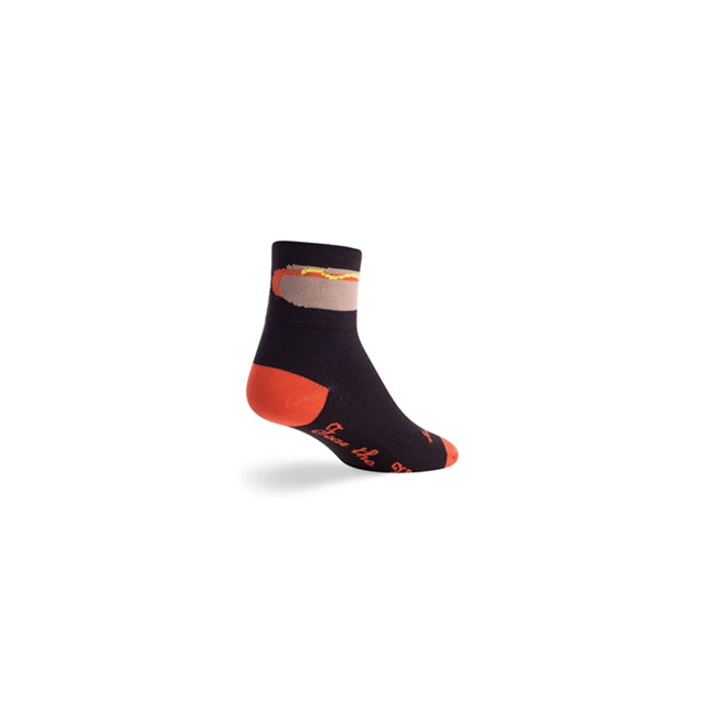 SockGuy - Footlong Cycling Sock - Unisex - Black In Size