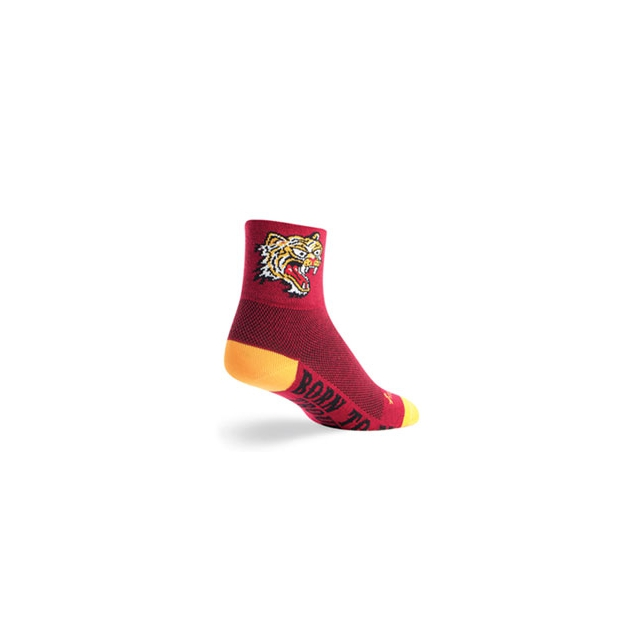 SockGuy - Hell Cat Cycling Sock - Unisex - Red In Size