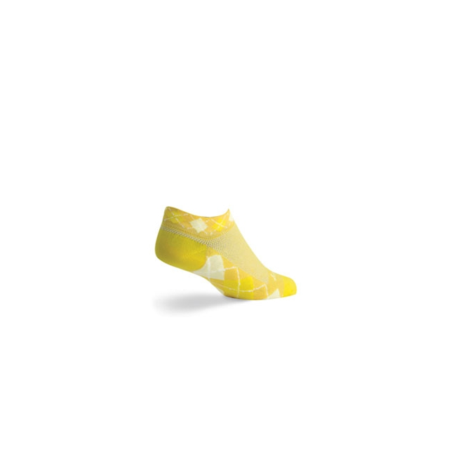SockGuy - Lemon Cycling Sock - Women's - Yellow In Size: S-M