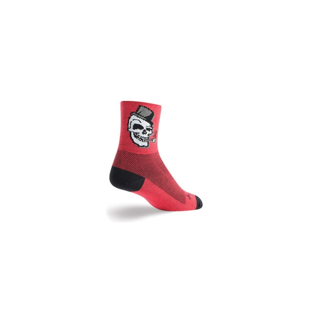 SockGuy - Scully Cycling Sock - Unisex - Red In Size
