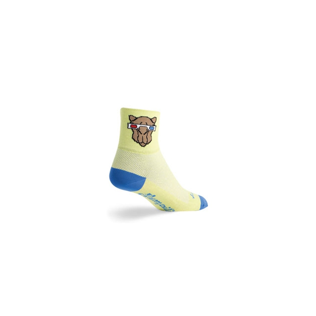 SockGuy - Humper Cycling Sock - Unisex - Yellow In Size