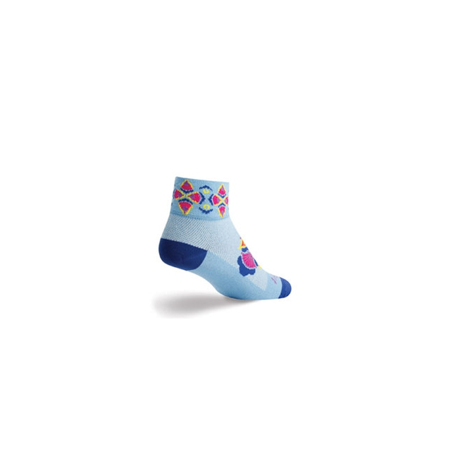 SockGuy - Fans 2IN Cycling Sock - Women's - Sky In Size: S-M