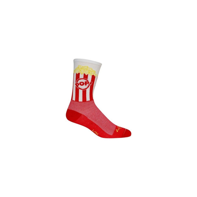 SockGuy - Popcorn Cycling Sock - Unisex - Red In Size