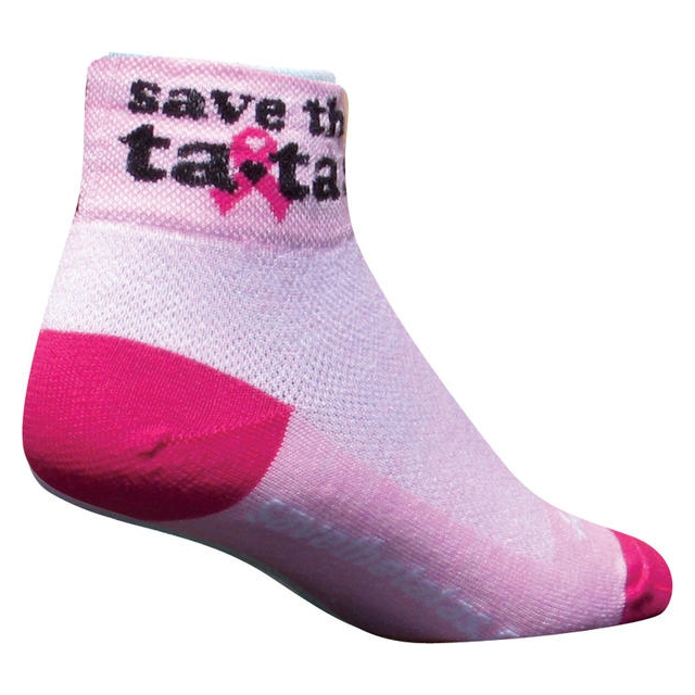 SockGuy - Save The Tatas Socks (Pink) - Women's