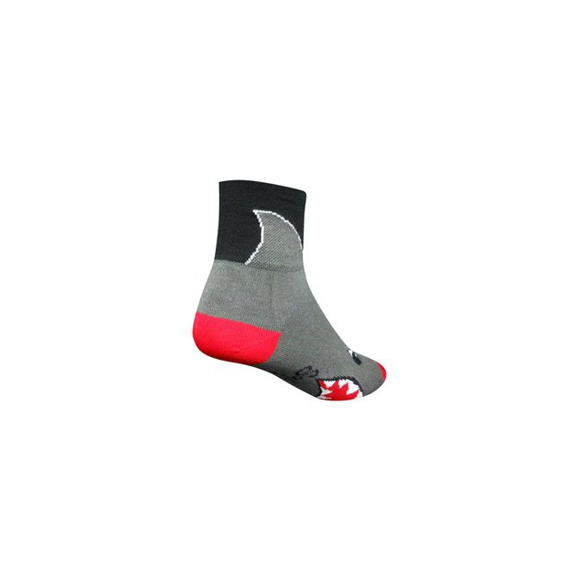 SockGuy - Shark 3IN Cycling Sock - Grey In Size: S-M