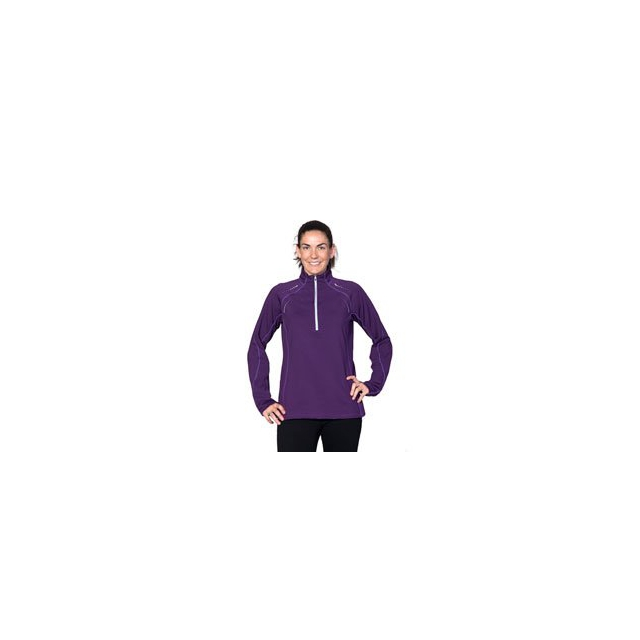 SportHill - Ultimate Visibility III Zip Run Top - Women's - Grape Royale/Light Thistle In Size: Small