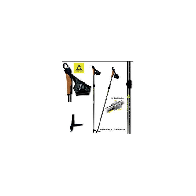 Fischer - RCS Junior Vario Adjustable Ski Poles