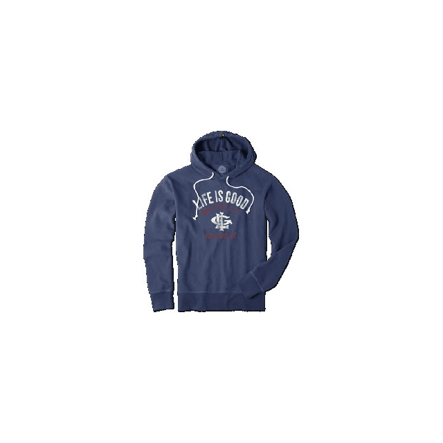 Life Is Good - Feel It Know It Go-To Pullover Hoodie - Men's - Darkest Blue In Size: Medium