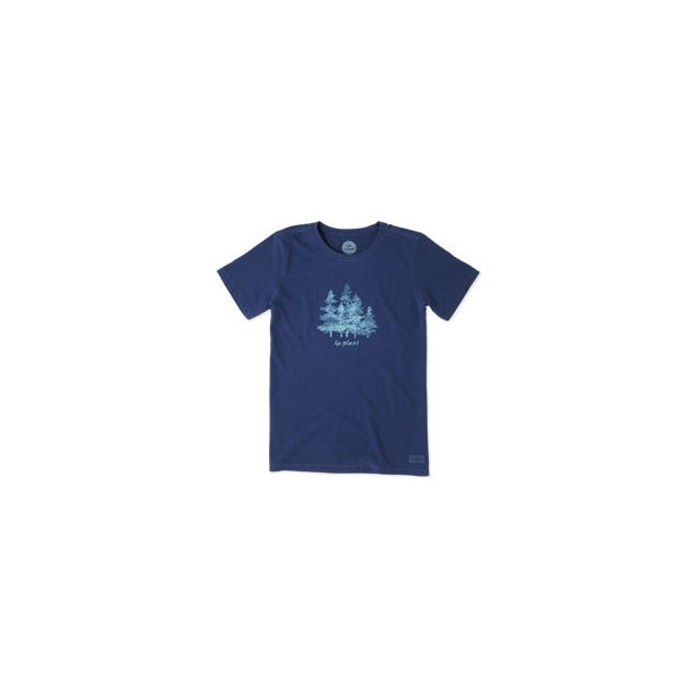 Life Is Good - Watercolor Trees Short Sleeve Crusher Tee - Women's - Darkest Blue In Size: Small