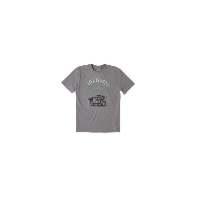 Life Is Good - Watercolor Hot Tub Crusher Tee - Men's - Slate Grey In Size: Medium