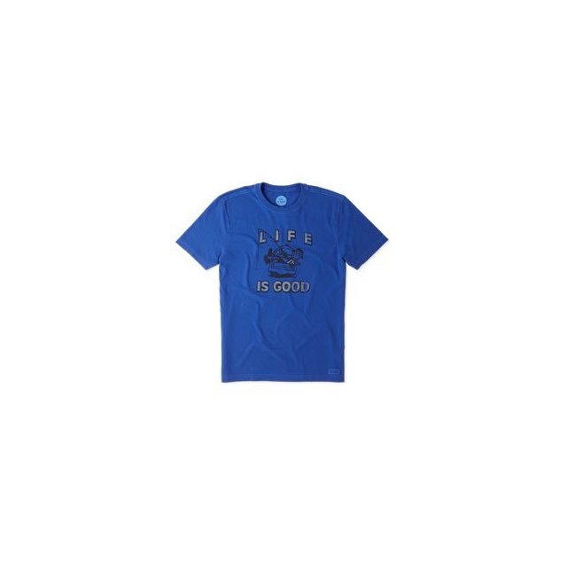 Life Is Good - Kickback Fish Short Sleeve Crusher Tee - Men's - Cobalt Blue In Size: Large