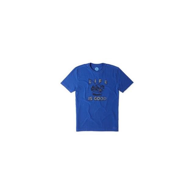 Life Is Good - Kickback Fish Short Sleeve Crusher Tee - Men's - Cobalt Blue In Size
