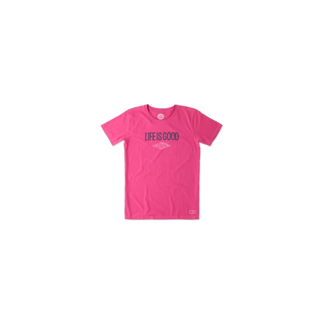 Life Is Good - Love Short Sleeve Crusher Tee - Women's - Bold Pink In Size
