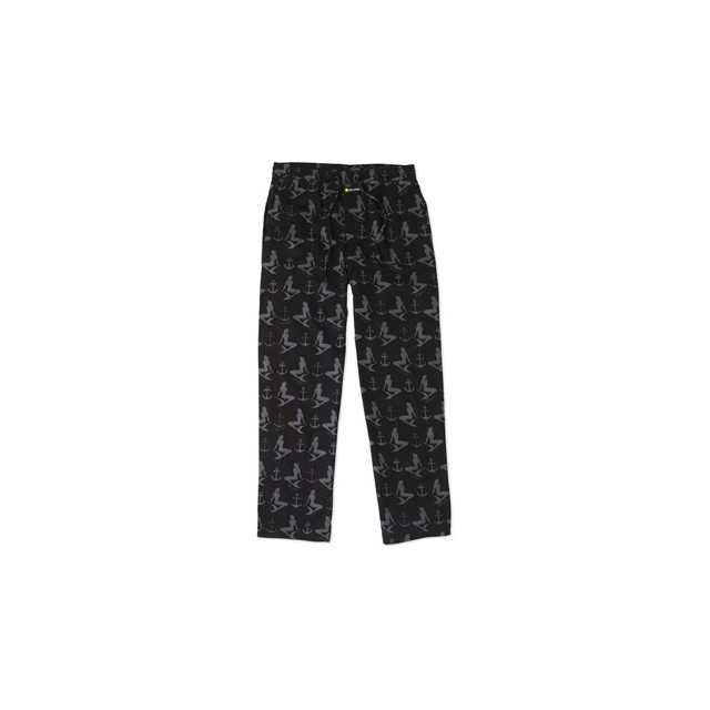 Life Is Good - Mermaid & Anchor Sleep Pant-Black-M