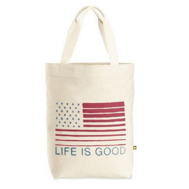 Life Is Good - Flag Messaging Tote