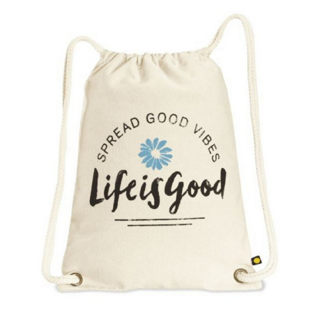 Life Is Good - Spread Good Vibes Daisy Messaging Cinch Sack